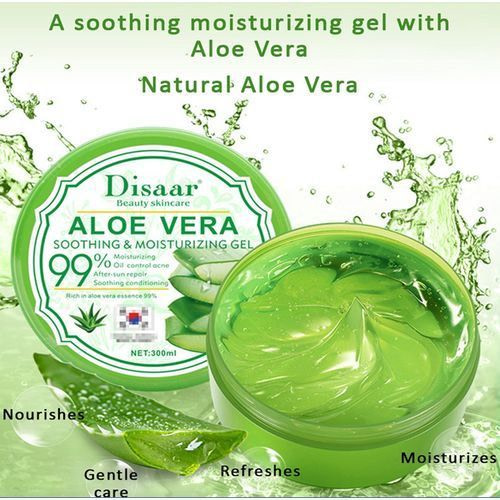Disaar 99% Aloe Vera Gel, Soothing & Moisturizing-300mL