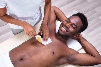 Chest Waxing service in egbeda lagos by estreme therapy